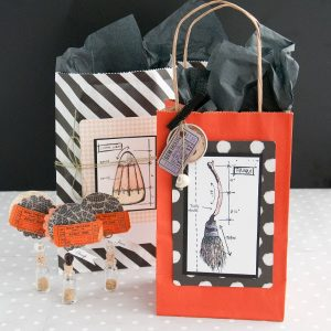 Halloween Party Favor Bags and Place Card Holders